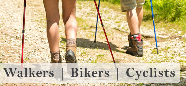 Walkers, Bikers and Cyclists
